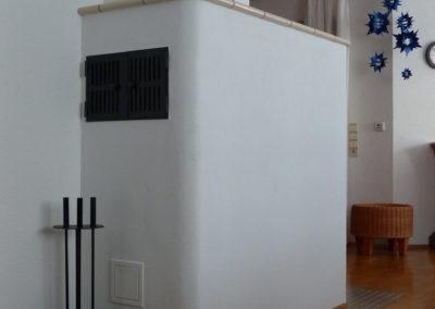 Grundofen mit beheizter Sitzbank Warmhaltefach